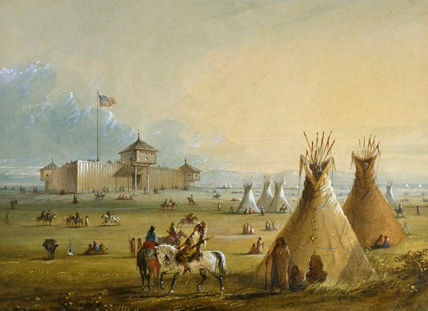 800px-Alfred_Jacob_Miller_-_Fort_Laramie_-_Walters_37194049